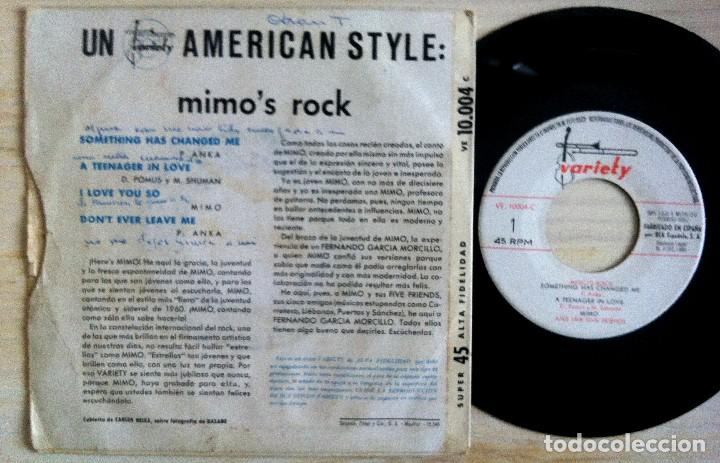 Discos de vinilo: Mimo (And Her Five Friends) - Mimo´s Rock - Something Has Changed...EP ESPAÑOL 1960 - VARIETY - Foto 2 - 154655542