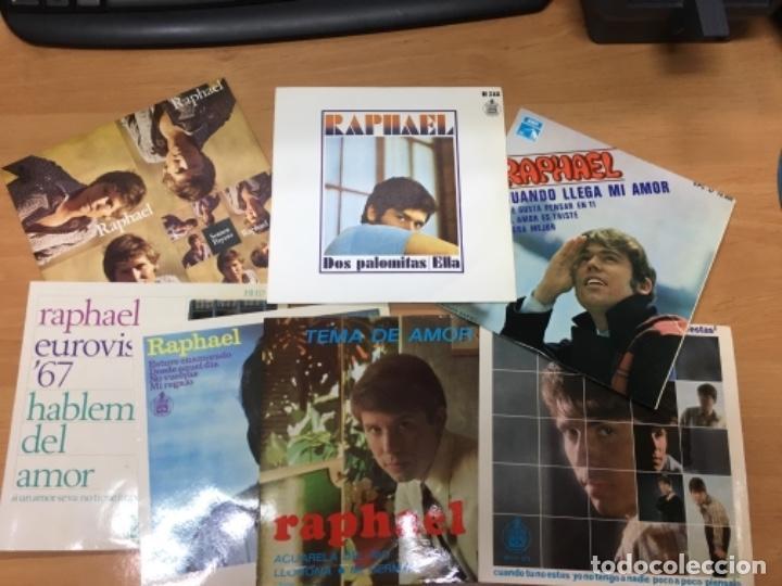LOTE DE 7 DISCOS RAPHAEL IMPECABLES (Música - Discos de Vinilo - Maxi Singles - Solistas Españoles de los 50 y 60)