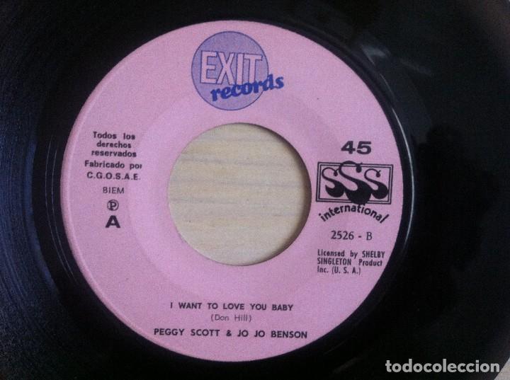 PEGGY SCOTT & JO JO BENSON - I WANT TO LOVE YOUR BABY / BLOW YOUR MIND - SINGLE 1969 - EXIT (Música - Discos - Singles Vinilo - Funk, Soul y Black Music)