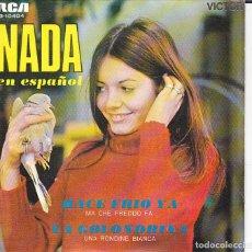 Discos de vinilo: SINGLE NADA EN ESPAÑOL HACE FRIO / LA GOLONDRINA DISCOS VICTOR RCA. Lote 154671634