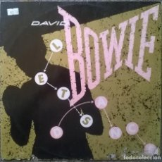 Discos de vinilo: DAVID BOWIE. LET'S DANCE/ CAT PEOPLE. EMI, UK 1983 MAXI-LP (12 EA 152). Lote 154674858