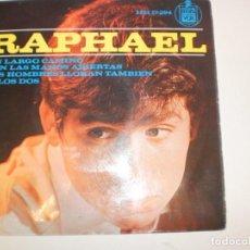 Discos de vinilo: RAPHAEL UN LARGO CAMINO. CON LAS MANOS ABIERTAS. LOS HOMBRES LLORAN TAMBÉN. ELLOS DOS HISPAVOX 1964. Lote 154678722