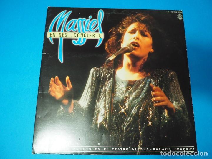 LP VINILO MASSIEL EN DES..CONCIERTO (1985). DISCO DOBLE (Música - Discos - LP Vinilo - Solistas Españoles de los 70 a la actualidad)