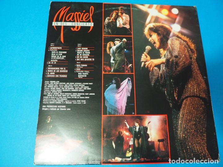 Discos de vinilo: LP Vinilo Massiel en Des..concierto (1985). Disco doble - Foto 2 - 154684418