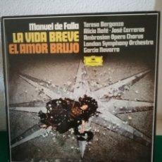 Discos de vinilo: DISCOS AMOR BRUJO..... Lote 154692742
