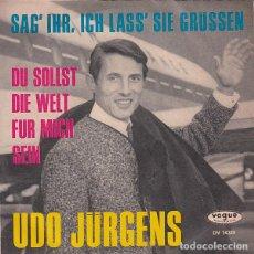 Discos de vinilo: SAG' IHR, ICH LASS SIE GRUSSEN - AUSTRIA 1965. Lote 154715270