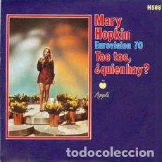 Discos de vinilo: KNOCK KNOCK, ¿QUIÉN HAY? - MARY HOPKIN (EUROVISIÓN 1970). Lote 154719418