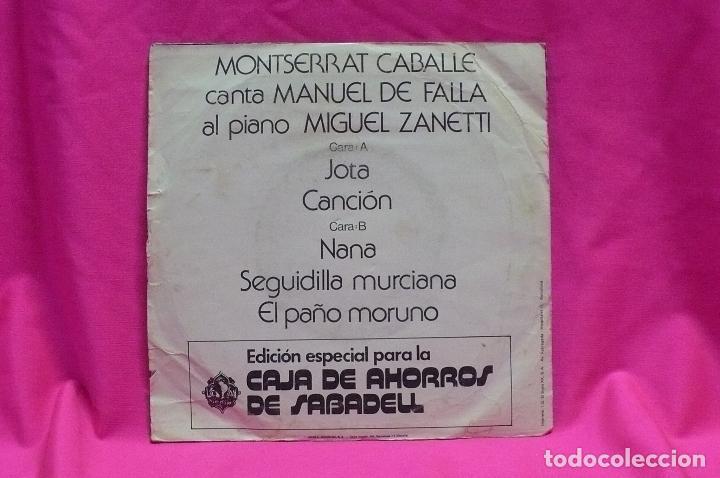 Discos de vinilo: monserrat caballe -- jota / cancion / nana / seguidilla murciana / el paño moruno, vergara, 1975. - Foto 2 - 154743038