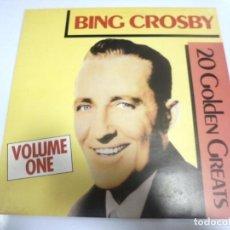 Discos de vinilo: LP. BING CROSBY. 20 GOLDEN GREATS. VOLUME ONE. 1985.. Lote 154748558