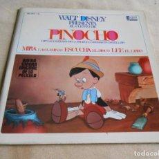 Discos de vinilo: WALT DISNEY - PINOCHO -, EP, CUENTO + 1, AÑO 1967. Lote 154760778