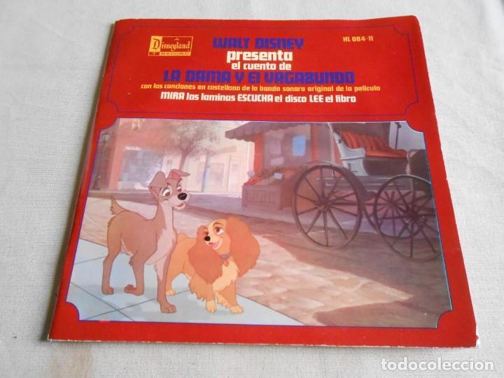 WALT DISNEY - LA DAMA Y EL VAGABUNDO -, EP, CUENTO +1, AÑO 1969 (Música - Discos de Vinilo - EPs - Música Infantil)