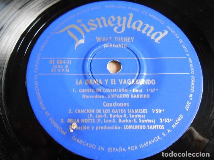 Discos de vinilo: WALT DISNEY - LA DAMA Y EL VAGABUNDO -, EP, CUENTO +1, AÑO 1969 - Foto 8 - 154761418
