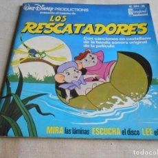 Discos de vinilo: WALT DISNEY - LOS RESCATADORES -, EP, CUENTO +1, AÑO 1977. Lote 154762406