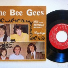 Discos de vinilo: THE BEE GEES - WORLD / HORIZONTAL / HARRY BRAFF / THE EARNEST OF BEING - EP1970 - PERGOLA. Lote 154762770