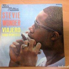 Discos de vinilo: SINGLE STEVIE WONDER VIAJERO / TODO PERFECTO EDITADO EN ESPAÑA TAMLA MOTOWN 1967. Lote 154767574
