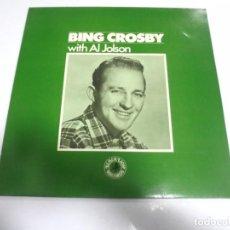 Discos de vinilo: LP. BING CROSBY WITH AL JOLSON. 1983. PHONOCO. Lote 154768318