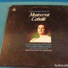 Discos de vinilo: LOTE LP MONTSERRAT CABALLÉ CANÇO D'AMOR I DE GUERRA SELLO COLUMBIA 1984...SALIDA 1 EURO. Lote 154774782