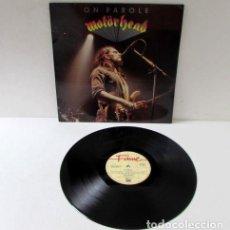 Discos de vinilo: MOTORHEAD / ON PAROLE 1976 !! LEMMY !! RARA EDT ORG UK LIBERTY FA 3009 !! COLLECTORS !! TODO EXC. Lote 154784594