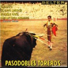 Discos de vinilo: ORQUESTA TIPICA ESPAÑOLA - PASODOBLES TOREROS - GALLITO / EL GATO MONTES / ESPAÑA CAÑI + 1 - EP 1960. Lote 154789246