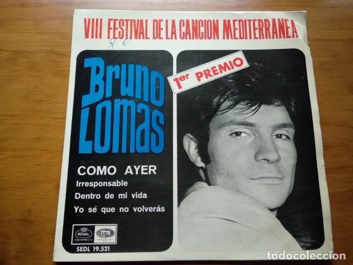 VINILO EP - BRUNO LOMAS (Música - Discos - Singles Vinilo - Solistas Españoles de los 50 y 60)