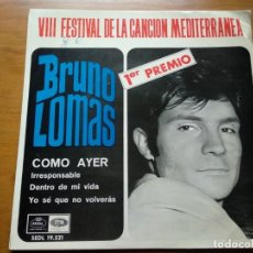 Discos de vinilo: VINILO EP - BRUNO LOMAS. Lote 154815130