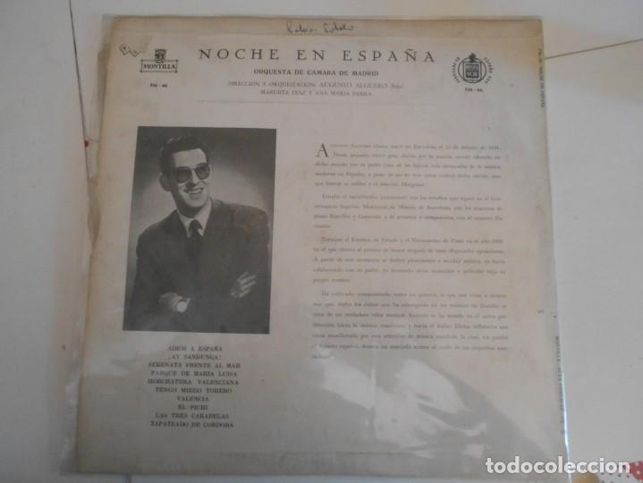 Discos de vinilo: AUGUSTO ALGUERO-LP A NIGHT IN SPAIN-ESPAÑOL - Foto 2 - 154832554