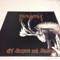 Discos de vinilo: MAVETH – OF SERPENT AND SHADOW --DEATH METAL. Lote 154834506