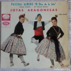 Discos de vinilo: PASCUAL ALBERO: JOTAS ARAGONESAS . Lote 154836090
