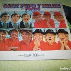 Discos de vinilo: GABY, FOFÓ Y MILIKI - CON FOFITO - LP DE MOVIEPLAY DE 1974 GATEFOLD -- FIRMADO POR LOS PAYASOS. Lote 154844066