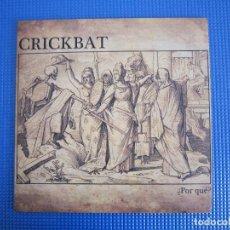 Discos de vinilo: LP - CRUST - CRICKBAT (¿POR QUE?) - 2012 - VIZCAYA. Lote 154853998