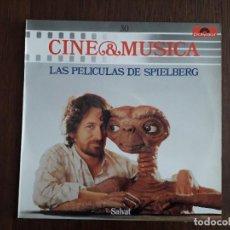 Discos de vinilo: DISCO VINILO LP CINE & MÚSICA, LAS PELÍCULAS DE SPIELBERG, SALVAT AÑO 1987. Lote 154863746