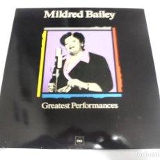 Discos de vinilo: LP. MILDRED BAILEY. GREATEST PERFORMANCES. CBS. Lote 154880374