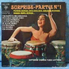 Discos de vinilo: ANTONIO CONDE Y SUS LATINOS - SURPRISE - PARTIE Nº1 RARO LP EDITADO EN FRANCIA EN EXCELENTE ESTADO. Lote 154880794