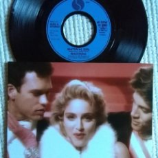 Discos de vinilo: MADONNA - '' MATERIAL GIRL / PRETENDER '' SINGLE 7'' UK 1985 UNIQUE PICTURE. Lote 154899366