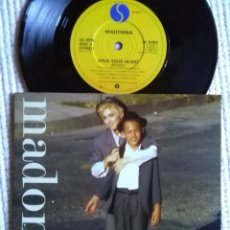 Discos de vinilo: MADONNA - '' OPEN YOUR HEART / LUCKY STAR '' SINGLE 7'' UK 1986 UNIQUE PICTURE. Lote 154900702