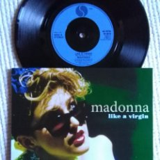 Discos de vinilo: MADONNA - '' LIKE A VIRGIN / STAY '' SINGLE 7'' UK 1984 UNIQUE PICTURE. Lote 154901502