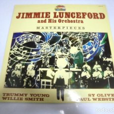 Discos de vinilo: LP. JIMMIE LUNCEFORD AND HIS ORCHESTRA. MASTERPIECES. 1985. SARABANDAS. Lote 154909266