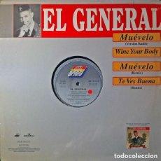 Discos de vinilo: EL GENERAL - MUEVELO - MAXI-SINGLE SPAIN 1992. Lote 154920038