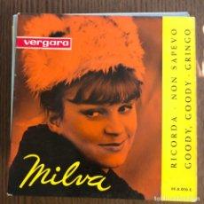 Discos de vinilo: MILVA - RICORDA + 3 - EP VERGARA 1963 . Lote 154922678