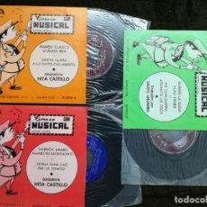 Discos de vinilo: 3 SINGLES CORREO MUSICAL-ORQUESTA HITA CASTILLO Y GRUPO ANONIMO.. Lote 154922698