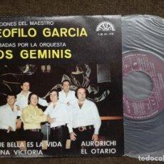 Discos de vinilo: ORQUESTA LOS GEMINIS - CANCIONES DEL MAESTRO TEOFILO GARCIA - PROMOCIONAL 1974 - BERTA. Lote 154927946