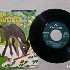 Discos de vinilo: MUSICA SINGLE: LOS ENANOS DEL CASTILLO ENCANTADO - EL BURRO FLAUTISTA (ABLN). Lote 154945554