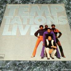 Discos de vinilo: THE TEMPTATIONS - LIVE. Lote 154954565