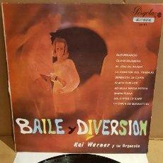 Discos de vinilo: 10 PULGADAS !! KAI WARNER Y SU ORQUESTA / BAILE Y DIVERSIÓN / LP-PERGOLA-1968 / MBC. ***/***. Lote 154971278