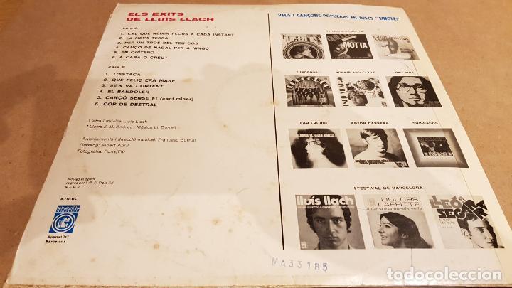 Discos de vinilo: ELS ÈXITS DE LLUÍS LLACH / PRIMER ALBUM / LP-CONCENTRIC-1969 / MBC. ***/*** - Foto 2 - 154972310