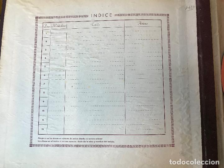 Discos de vinilo: PRECIOSA CARPETA AÑOS 40 CON 10 DISCOS EP 33 1/3 - Foto 2 - 154984038