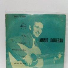 Discos de vinilo: EP ** LONNIE DONEGAN ** OL' RILEY - RAILROAD BILL - ** COVER/ VG+/EX ** EP / VERY GOOD+ ** 1956. Lote 154988326