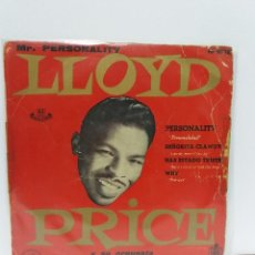 Discos de vinilo: EP ** LLOYD PRICE ** PERSONALITY - SEÑORITA CLAWDY ** COVER/ VERY GOOD / VERY GOOD+ * EP/ VERY GOOD+. Lote 154990822