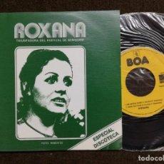 Discos de vinilo: ROXANA ( TRIUNFADORA DEL FESTIVAL DE BENIDORM)1975, SINGLE. Lote 154993346