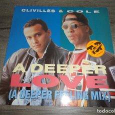Discos de vinilo: LIVILLÉS & COLE - A DEEPER LOVE. Lote 154993426